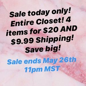 SAVE BIG! SALE ENDS MAY 26th 11pm MST